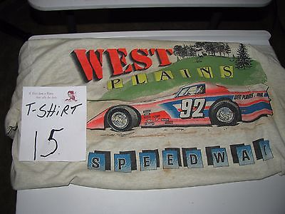 1992 West Plains Motor Speedway  Tee Shirt  dirt track LATE MODEL RACE [ 15 ]