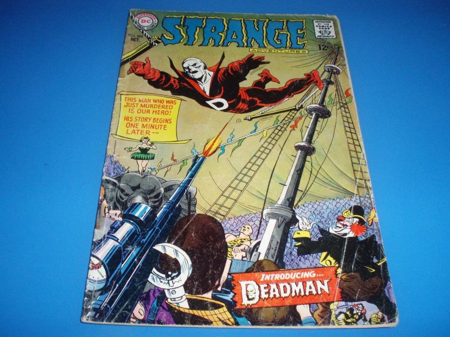 Strange Adventures #205 1967 FIRST DEADMAN KEY BOOK