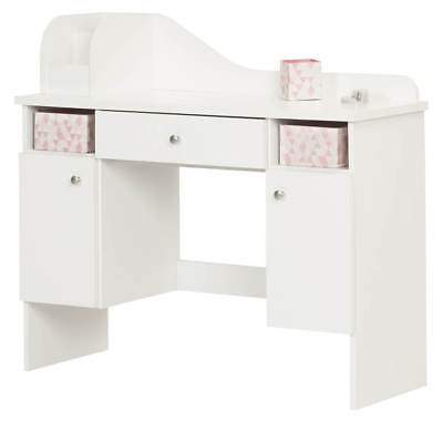 Makeup Desk with Drawer in Pure White Finish [ID 3494598]