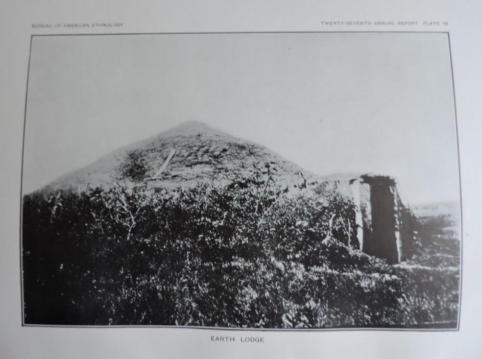 Earth Lodge Native American Ethnology Art Print 1911