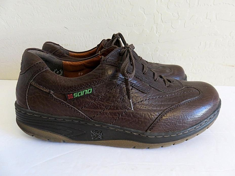 Mephisto Sano Walking Shoes Brown Leather Mens 9.5