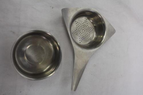 Vintage 2pc Gense Sweden Stainless Steel 'Star' Tea Strainer c.1950s