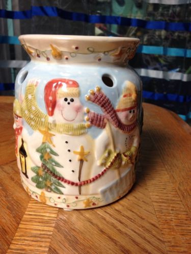 Yankee Candle Christmas/winter/snowmen Tart Warmer