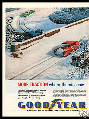 1961 Goodyear Tire collectible print ad