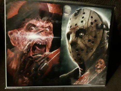 Freddy vs Jason Bam Box exclusive coa signed art print #1292/2500 Free Shipping