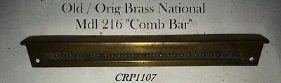 OLD/ORIG Mdl. 216 Brass Nat'l Candy Cash Register Keystem COMB/Coin Shelf BAR