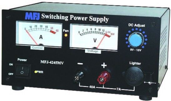 MFJ 4245MV - 45 Amps SWITCHING PS, METER, 9-16V ADJ. 110/220VAC  - NEW