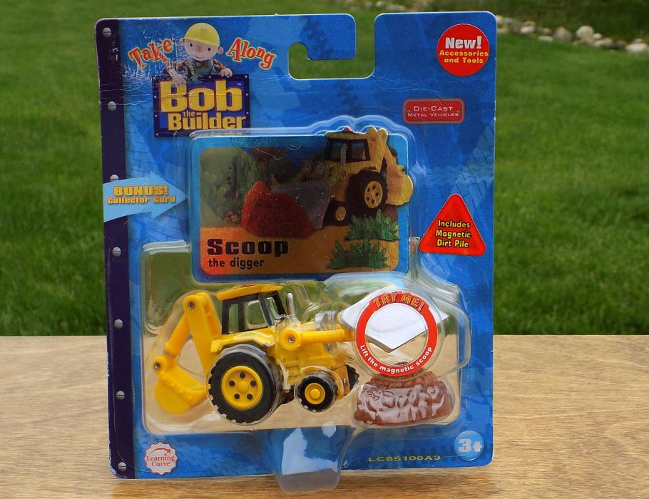 Bob the Builder Diecast Take Along SCOOP Digger Vehicle Toy Special Plow Edition