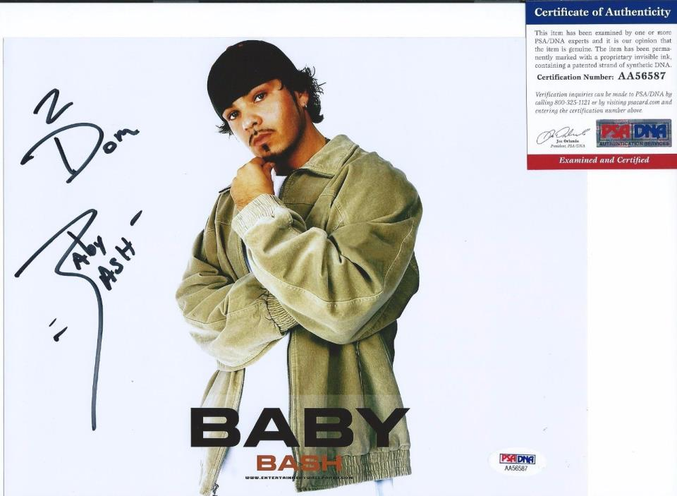 Baby Bash Signed 8x10 Photo So Fly Autographed PSA/DNA COA Beesh AA56587