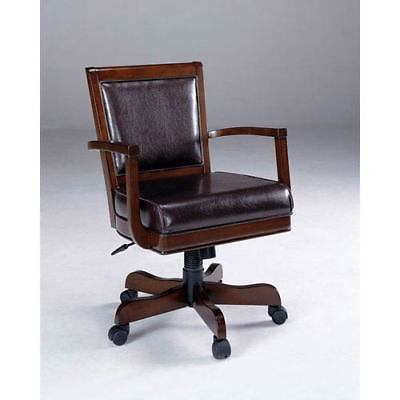 Hillsdale Furniture Ambassador Medium Brown Cherry Caster Game Chair