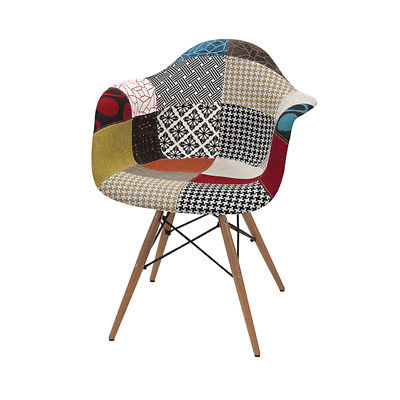 Imax Contemporary Inspired Style Multi Nadine Retro Accent Chair 89527