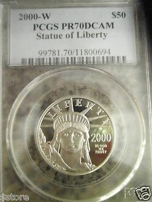 2000-W $50 PCGS PR70DCAM Platinum American Eagle