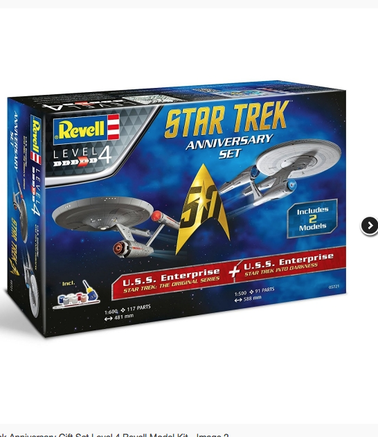 Star Trek Anniversary Level 4 Revell Model Kit U.S.S. Enterprise 2 Ships