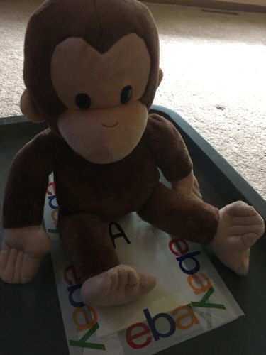 APPLAUSE by RUSS CURIOUS GEORGE PLUSH MONKEY 16 INCHES Stuffed Animal Soft