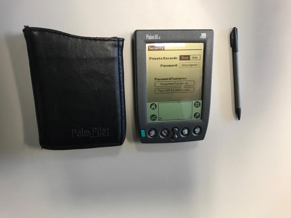 Palm IIIx w/ Stylus and Leather case.