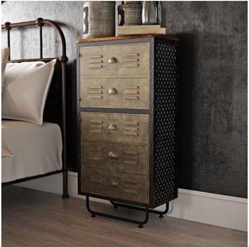 Storage Cabinet Organizer Kitchen Accent Small Locker Office Bedroom Industrial