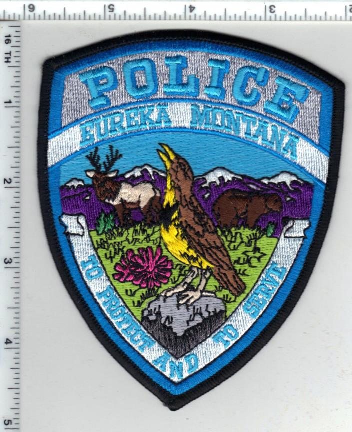 Eureka Police (Montana) Shoulder Patch - new from the 1980's