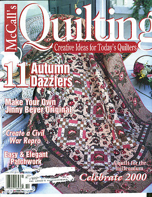 MCCALL'S QUILTING 11 AUTUMN DAZZLERS OCTOBER 1999 TUSSIE MUSSIE COVER QUILT