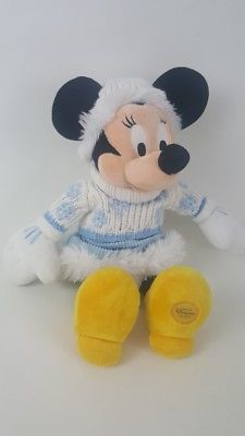 Disney Store Minnie Mouse Stuffed Animal Plush Winter Clothes