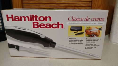Brand New in Box! Hamilton Beach Electric Carving Knife Model #74275