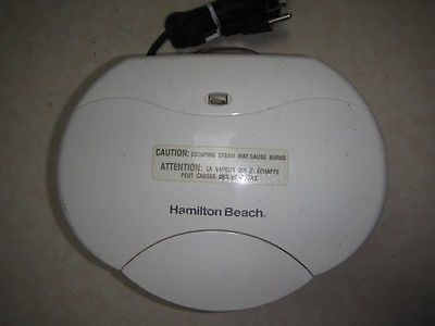 Hamilton Beach Proctor Silex Indoor Grill White Model 25219 Tested Works