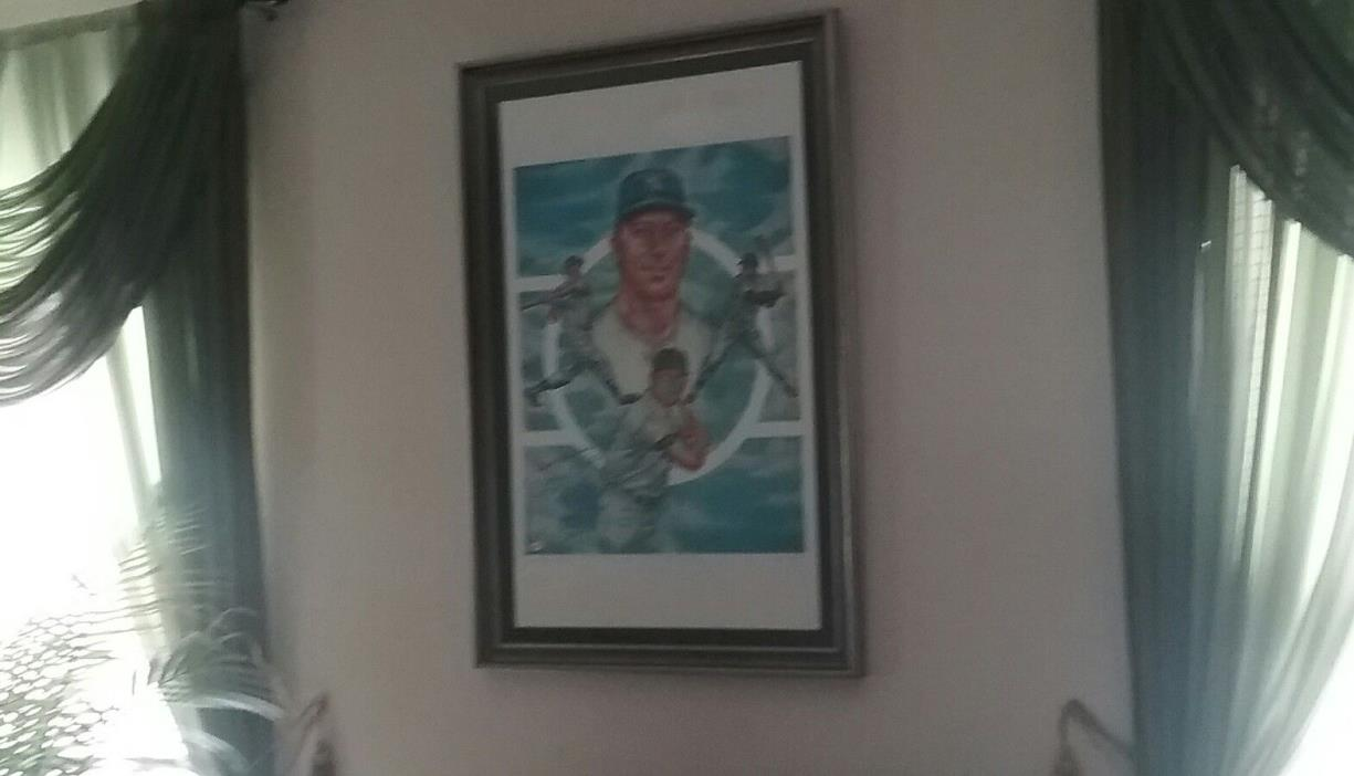 15 ARTIST PROOF EXIST! MICKEY MANTLE LITHO 23X35 SIGNED BEST WISHES AP #7/15 JSA