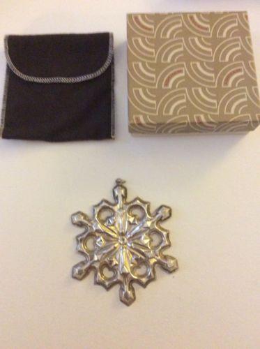 1979 Gorham Sterling Silver Snowflake Christmas Tree Ornament
