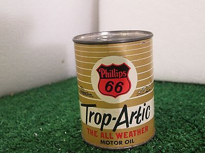 Vintage Phillips 66 Trop-Artic THE ALL WEATHER MOTOR OIL Coin Bank Original