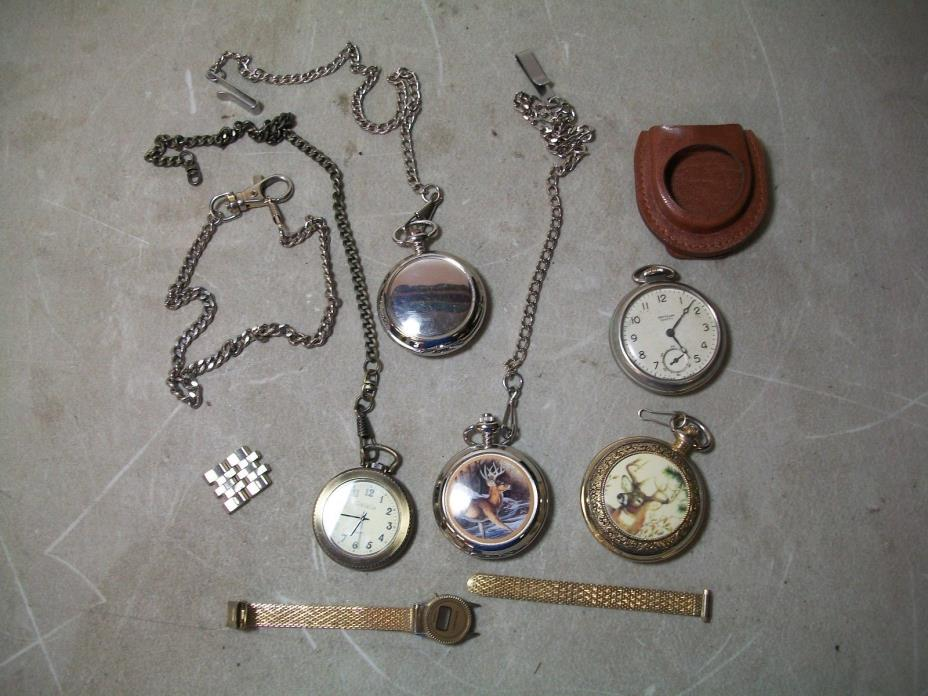 Lot of 5 Pocket Watches- Westclox, Westminister, Franklin Mint