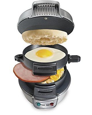 Hamilton Beach 25475A Breakfast Sandwich Maker Grills Griddles Small Kitchen Bar