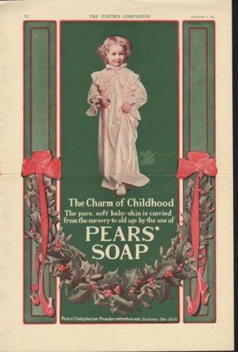 1903 PEAR SOAP CHRISTMAS BABY NIGHTIE NURSERY HYGIENE 9862