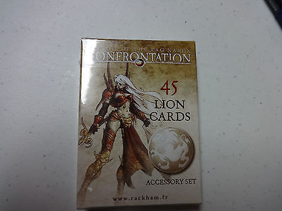 45 Lion Alahan Extra Cards Rackham Confrontation Miniatures New English RagNarok