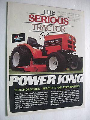 NEW 1985 Economy Power King Tractor Dealer Sales Brochure 1600/2400 Estate Find