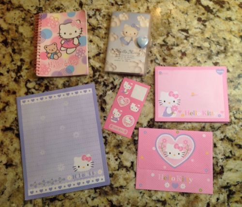 Sanrio Hello Kitty Address Book, Stationery, Notebook, Paper Lot
