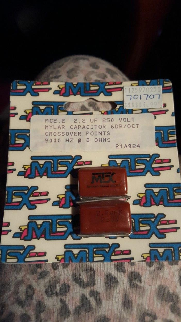 MTX 21A924 2.2 UF 250 Volt Mylar Capacitor 6 DB/OCT Crossover Points 9000 HZ @ 8