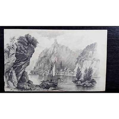 Antique Original British Pencil Drawing, circa 1823, #6 of 8 -