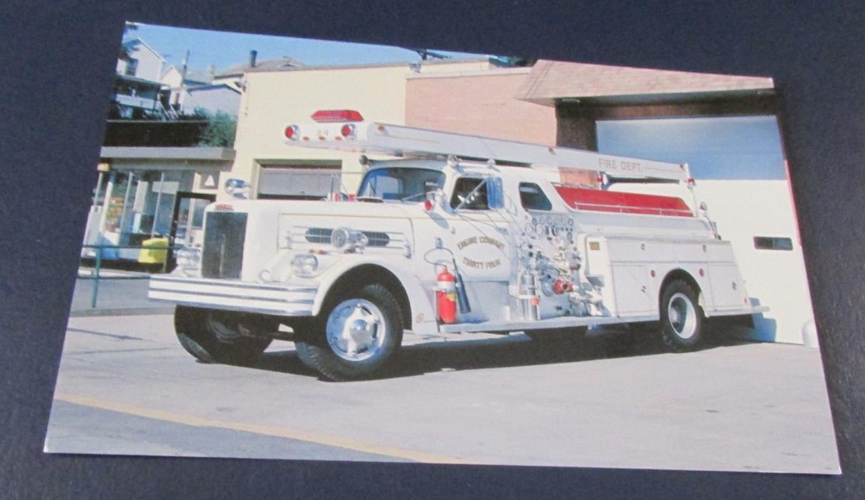 Postcard..<Fire Engines> OLD PUMPER TRUCK--<MINGO JUNCTION ,NY FIRE DEPT>