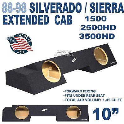 CHEVY SILVERADO & GMC SIERRA EXTENDED CAB SUB BOX SUBWOOFER ENCLOSURE 88-98