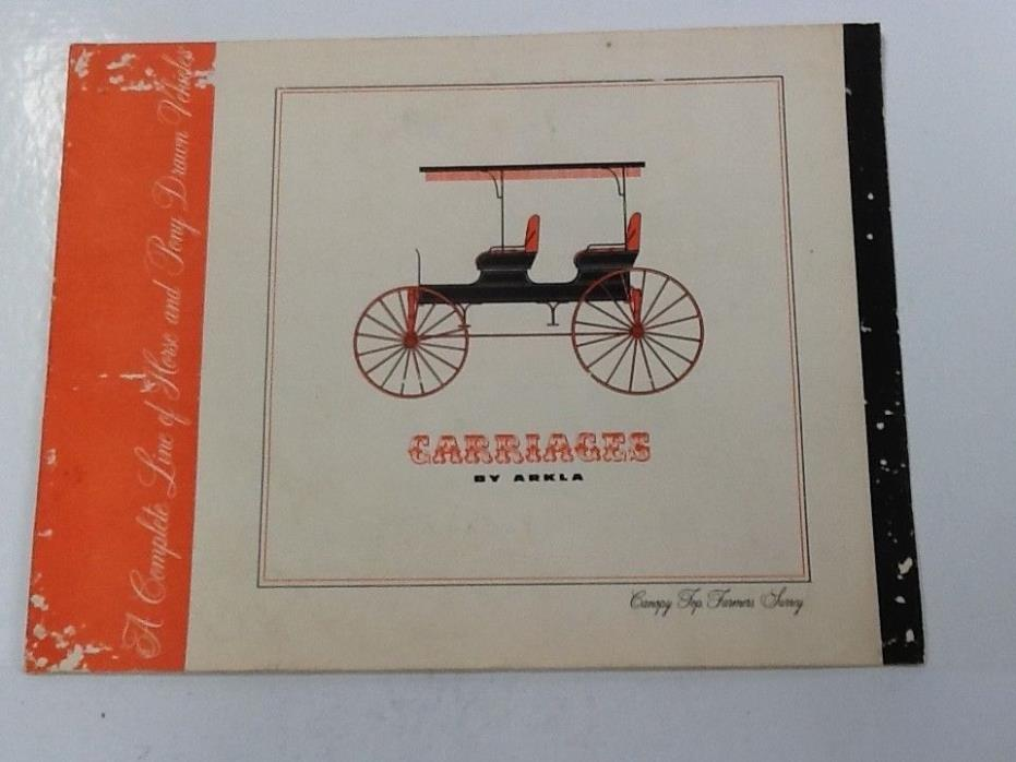 Awesome Vintage Advertising Sales Brochure, Emmet, Ark, Horse Drawn Carriages