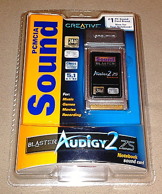 Creative Sound Blaster Audigy 2 ZS : PCMCIA : Notebook Sound Card {NEW-UNOPENED}