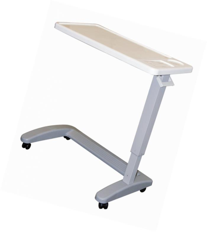 Carex Overbed Table, Flat Rolling Overbed Table with Adjustable Height, for Eati