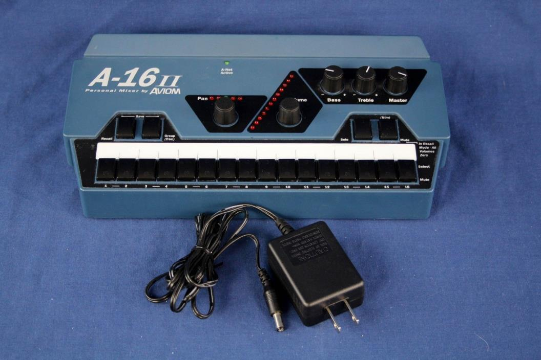 Aviom A-16II Personal Mixer Excellent condition with power supply Church Owned