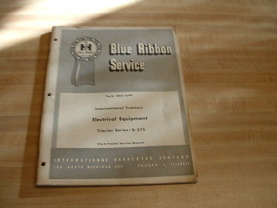 Vintage International Harvester Blue Ribbon Service Manual