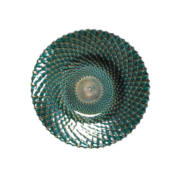 Iridescent Decorative Plate (S) Home Decor Tabletop Table Display Modern New