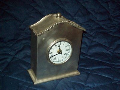 Made In India Market Bazaar Silver Metal Clock