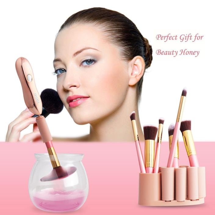 Makeup Brush Cleaner, SIX-QU Portable Electronic Automatic Brushes Cleaner