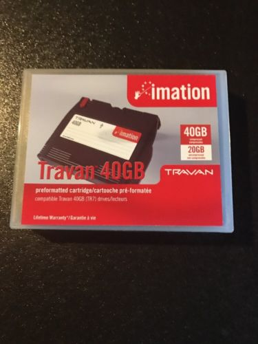 IMATION TRAVAN 40GB PREFORMATTED CARTRIDGE TR7 DRIVES