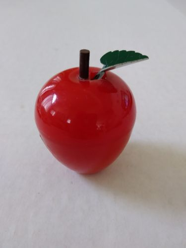 Vintage United Device Corp Figural Red Apple Sewing Measuring Tape