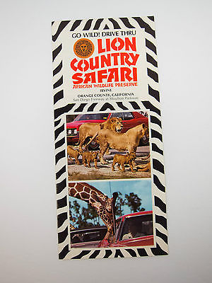 Vintage 70's Lion Country Safari Souvenir Brochure California