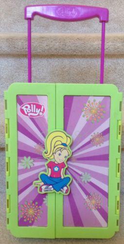 2004 Polly Pocket Adorable Storable Cruisin Closet Storage Case - Green